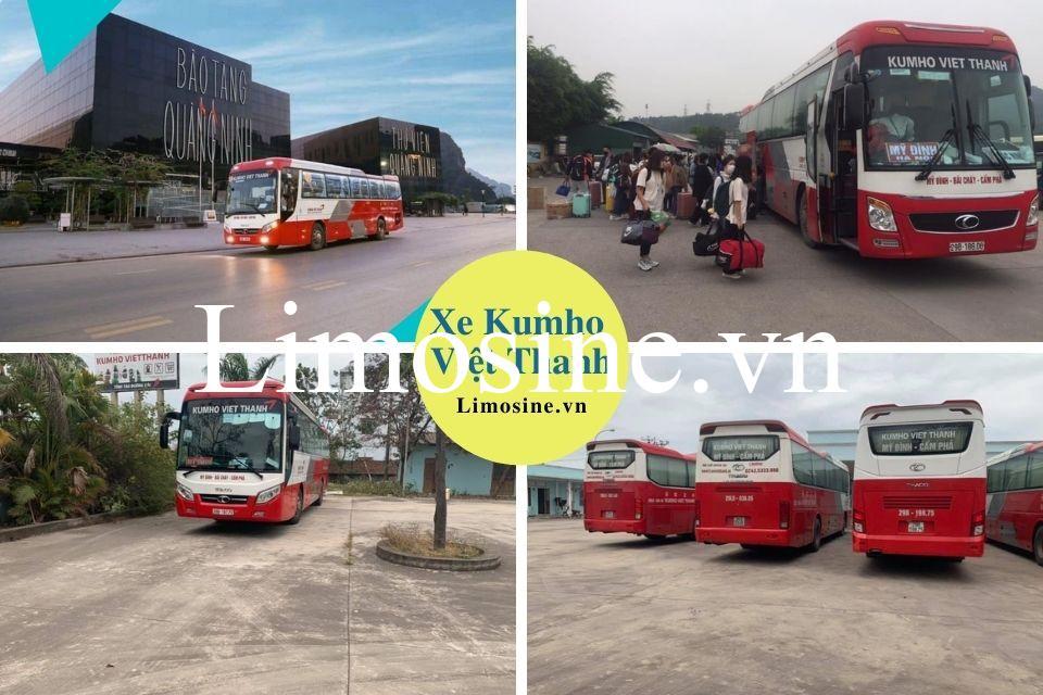 Xe Kumho Việt Thanh: Bến xe, giá vé, số điện thoại và lịch trình chi tiết